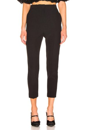 Alexander McQueen Women Formal Trousers - High Waisted Cigarette Pant in