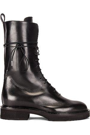 Khaite Conley Lace Up Combat Boots in
