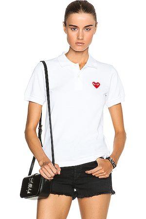 Comme des Garçons Cotton Polo with Emblem in