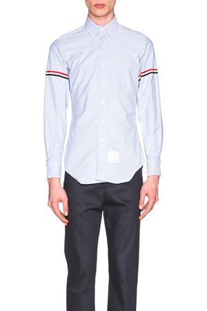 Thom Browne Classic Button Down with Grosgrain Armbands in