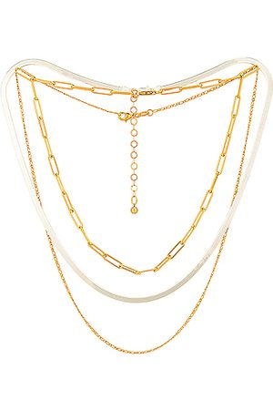 Jordan Road Jewelry Women Necklaces - For FWRD Samba Necklace Stack in &