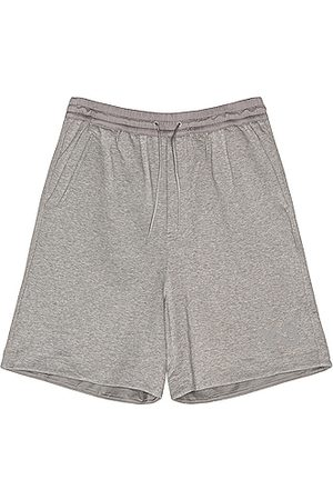 Y-3 Terry Shorts in Medium Grey Heather
