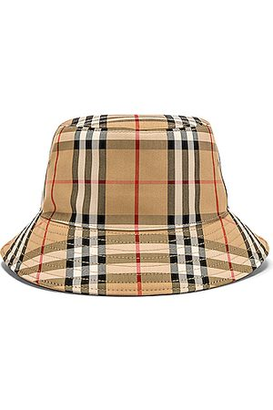 Burberry Heavy Cotton Check Bucket Hat in Archive .