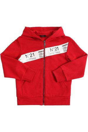 Nº21 Zip-up Cotton Sweatshirt Hoodie
