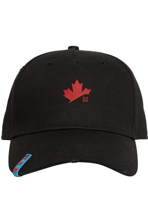 Dsquared2 Maple Leaf Embro Cotton Gabardine Cap