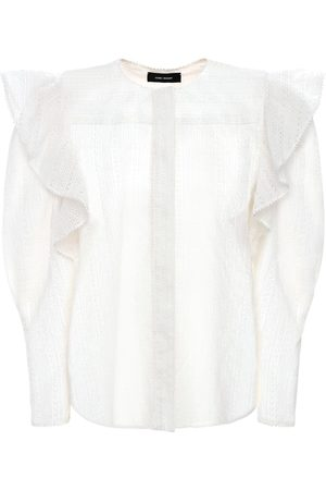 Isabel Marant Women Shirts - Getylia Ruffled Cotton Shirt
