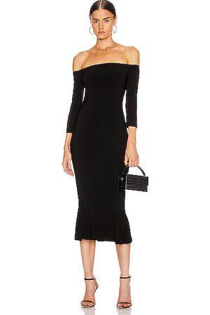 Norma Kamali Off Shoulder Fishtail Dress in