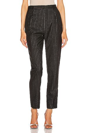 Saint Laurent Striped Tailored Pant in &