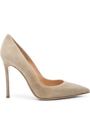 Gianvito Rossi Women High Heels - Suede Gianvito Heels in Camel