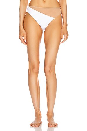Norma Kamali Women Swimsuits - Snake Mesh Bottom Swimsuit in & Nude Mesh