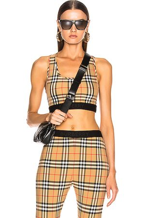 Burberry Dalby Bra Top in Antique Check
