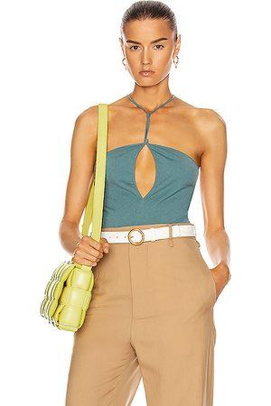 Bottega Veneta Sleeveless Bodysuit in Storm