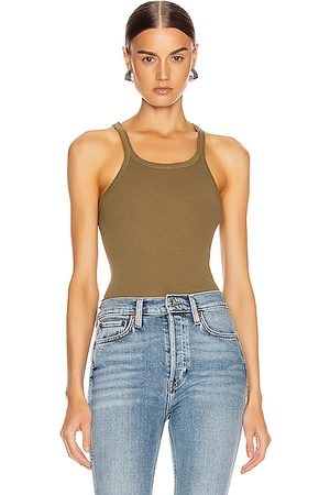 RE/DONE Ribbed Tank in Army