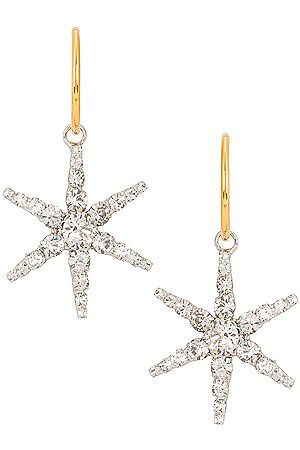Jennifer Behr Ciel Hoop Earrings in Crystal