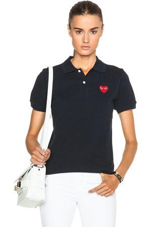 Comme des Garçons Cotton Polo with Emblem in Navy