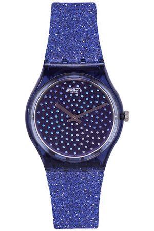 Swatch Women Navy Blue Embellished Blumino Analogue Watch GN270