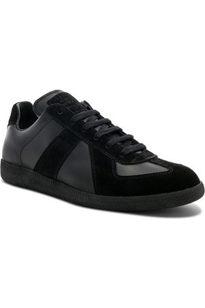 Maison Margiela Soft Leather & Velour Replica Sneakers in