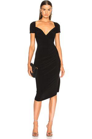 Norma Kamali Sweetheart Side Drape Dress in