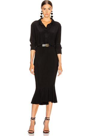 Norma Kamali Boyfriend NK Shirt Fishtail Dress in