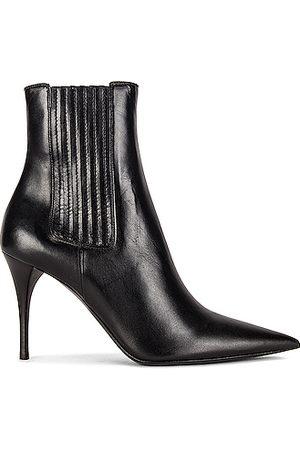 Saint Laurent Women Boots - Lexi Elastic Booties in Nero