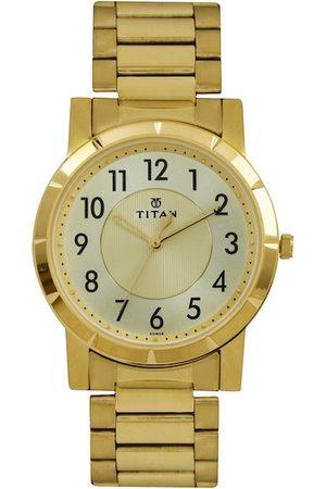 Titan Men Gold-Toned Dial Watch 1647YM02