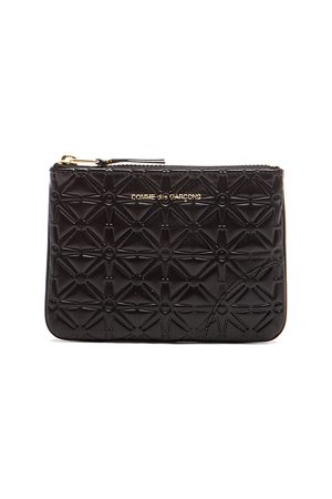 Comme des Garçons Small Star Embossed Pouch in