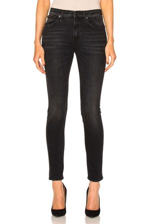 R13 High Rise Skinny in Marble