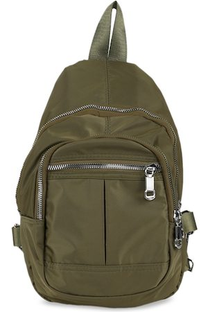 PEOPLE Women Olive Green Solid Backpack