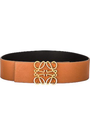 Loewe Anagram Wide Belt in Tan &