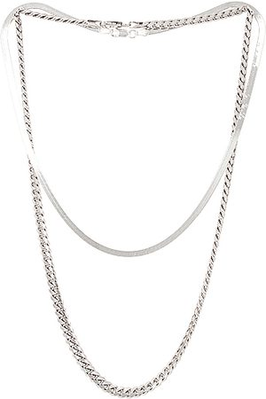 Jordan Road Jewelry For FWRD Chelsea Necklace Stack in