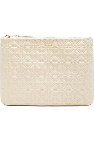 Comme des Garçons Star Embossed Pouch in Off