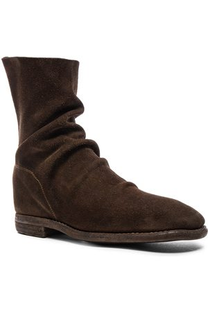 GUIDI Men Boots - Calf Suede Boots in