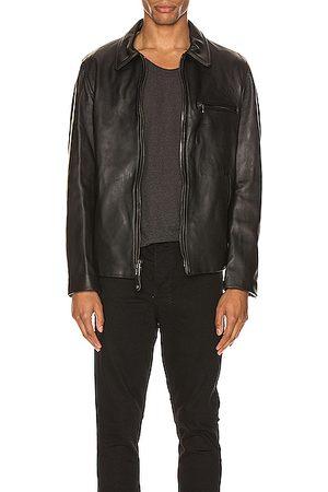 Schott NYC Collar Lamb Leather Jacket in
