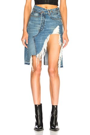 R13 Norbury Denim Skirt in Jasper