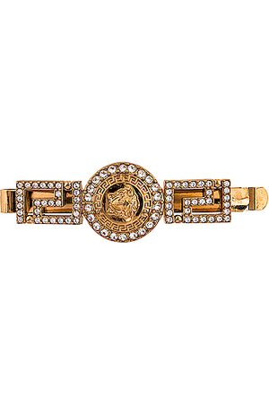VERSACE Mixed Hair Clip in Crystal &