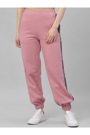 ATHENA Women Pink Solid Joggers