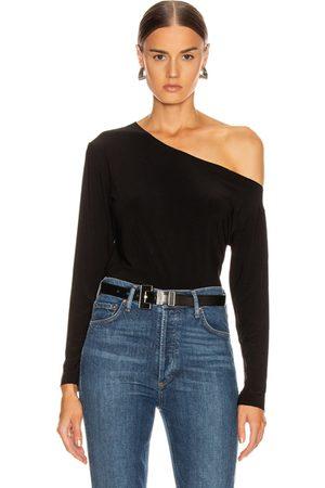 Norma Kamali Long Sleeve Drop Shoulder Top in