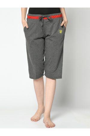 VIMAL JONNEY Women Grey Solid Lounge Pants