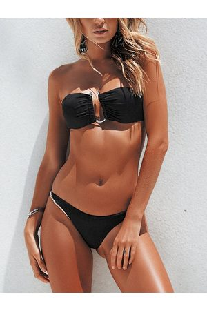 YOINS Off The Shoulder Bikini Set with U-Shape Connector