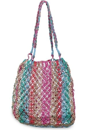 Diwaah Multicoloured Self Design Tote Bag