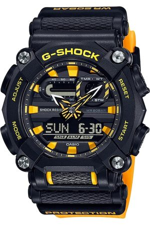 Casio Men Black & Yellow Analogue and Digital Watch