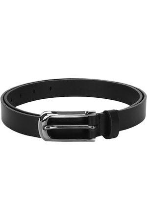 Aditi Wasan Women Black Solid Leather Belt