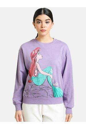Kazo Women Purple Printed Sweatshirt