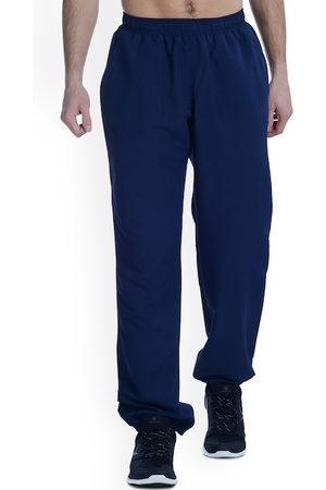 Domyos By Decathlon Men Navy Blue Slim Fit Solid Regular Trousers
