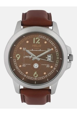 Helix Men Brown Analogue Watch TW023HG11