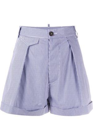 Dsquared2 High-waisted gingham shorts