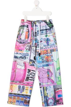 DUOltd Boys Wide Leg Trousers - Graphic-print wide-leg trousers
