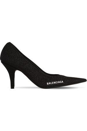 Balenciaga Women High Heels - 80mm Metallic Knit Pumps