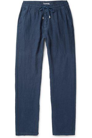 Vilebrequin Pacha Wide-Leg Linen Drawstring Trousers