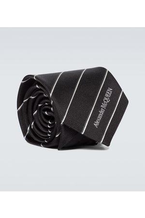 Alexander McQueen Men Neckties - Striped jacquard silk tie